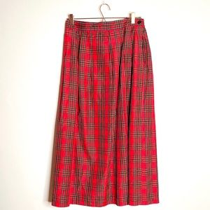 Vintage Worthington Plaid Maxi Skirt